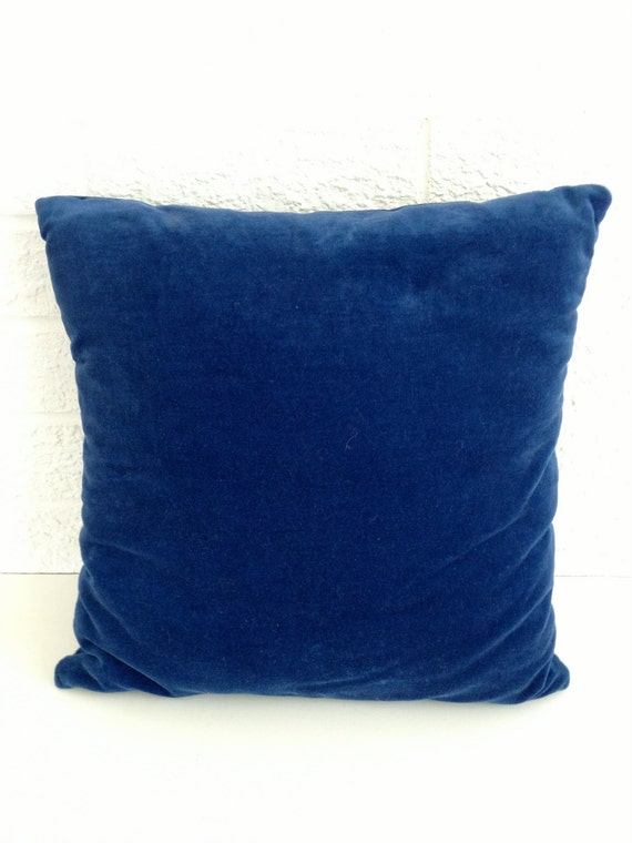 Vintage Cobalt Blue Velvet Pillow