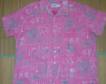 Mens Vintage Hawaiian Reverse Shirt  4XL