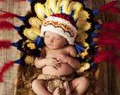 Thanksgiving Indian hat/Cherokee/, perfect newborn photo prop.