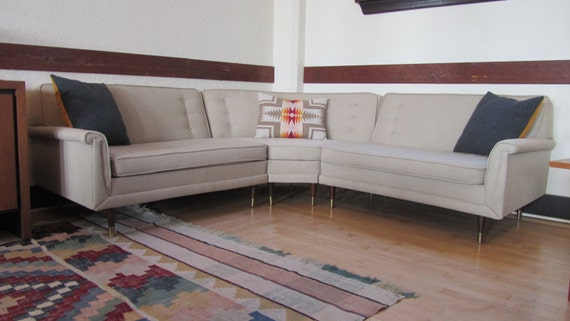 Mid Century Kroehler Sectional Reupholstered