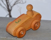 Race Car Redwood Toy Wood Car