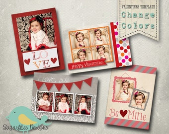 Valentines Card Templates - Valentines Wallet Minis