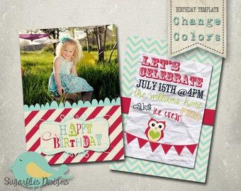 Birthday Invitation Templates - Birthday Girl Nautical Banner