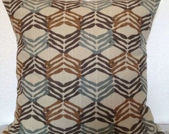 Pillow Cover -Free US Shipping - Robert Allen Chain Melody in Aloe