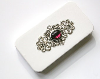iPhone 4 Case - White Flip Leather Case - Victorian iPhone case - iPhone Accessories