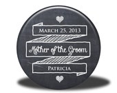 PERSONALIZED Mother of the Groom Gift - Mirror, Magnet, Bottle Opener or Pin - Chalkboard