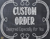 RESERVED ORDER for Christine