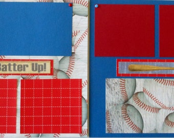 8X8 Baseball Fun Premade Scrapbook Album
