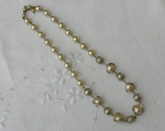 Necklace - Wrapped Pearls - June Birthday Gift - Vintage
