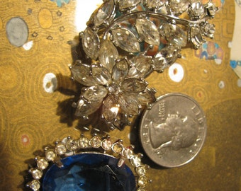 Destash Craft Lot of Vintage Jewelry, Brooches