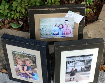 Distressed Picture Frames, Rustic 4x6 Frame, Chunky Frame, 4x6 Neutral Frame