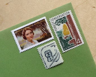 Vintage unused - The Yearling - postage stamps to post 5 letters - or use in scrapbooking and crafts