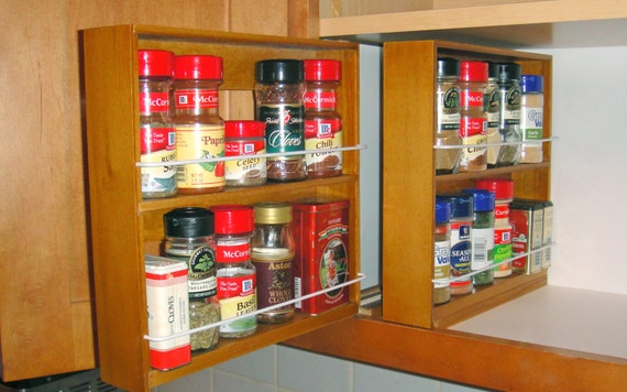 Diy Spice Rack 10 Cool Ideas Bob Vila, Spice Rack Organizer For Kitchen Cabinets