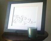 Whimsical Scrolls, Quilled Art - CUSTOM ORDER for JEN