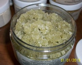 PEPPERMINT Foot Scrub - Sea Salt   ORGANIC Peppermint/Lavender Essential oils. Organic salt scrub, essential oils, tea tree, 6 ounces.