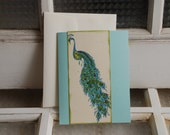 Peacock cards, set of 6