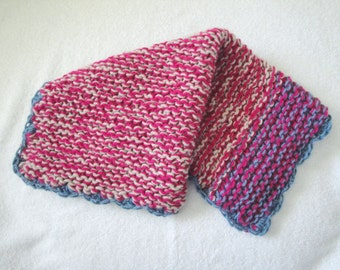 Security Lovey, Small Baby Girl Blanket, Knit, Pink, Carseat/Lap, Contemporary, Doll Blanket