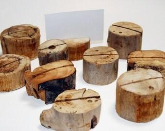 Rustic Wedding Decor, Drift Wood Card Holder, Driftwood Table Decor, Rustic Wedding Table, Boho Wedding, Driftwood Wedding - Set of 10
