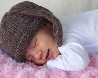 Bunny kids hat newborn photo prop ears hat baby hat