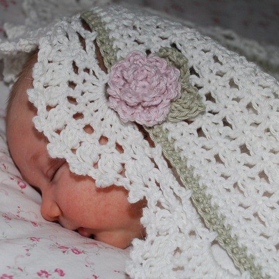 Pima Cotton Crochet Baby Blanket....Beautiful