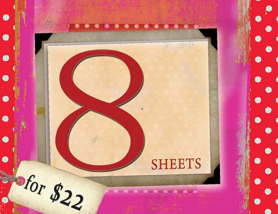 DISCOUNT BUNBLE - CLICK here for 8 sheets for 22USDollars offer on MagentaBelle Digital Collage Sheets  - Printable Download
