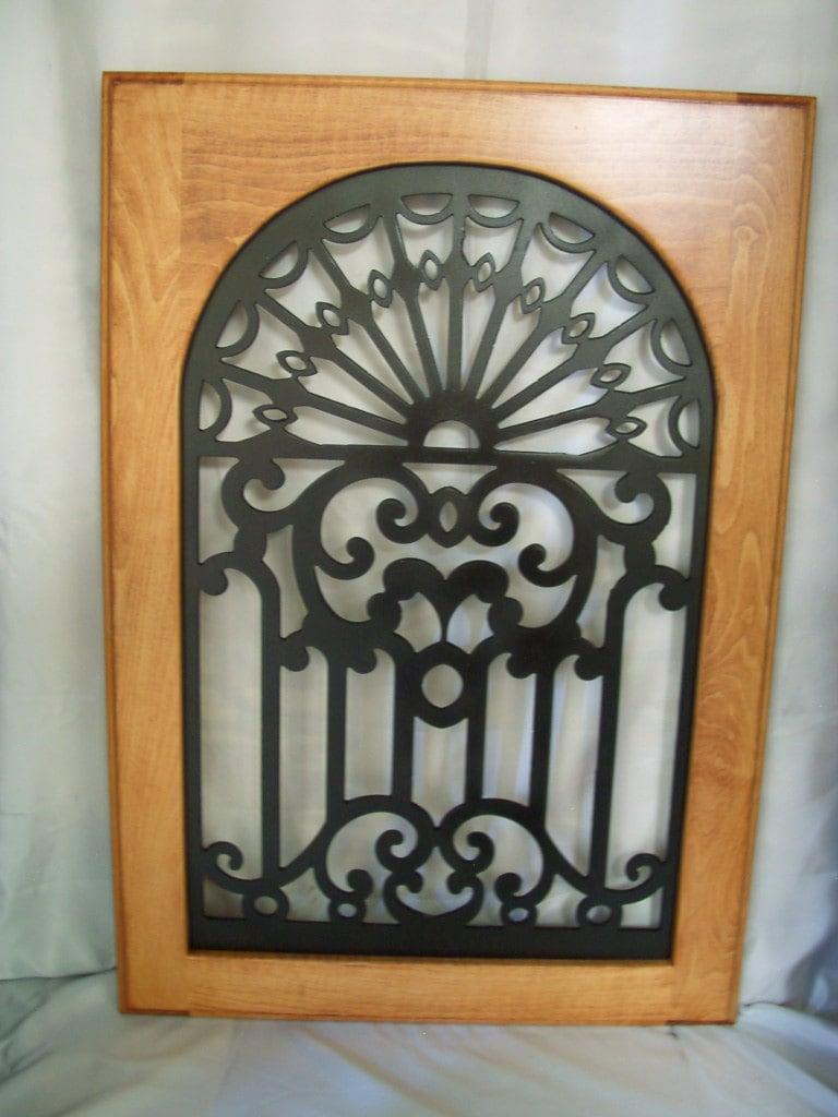 Cabinet Door Panel Insert In Decorative Iron Design Name Is