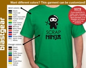 Scrap Ninja funny scrapbooking T-shirt — Any color/Any size - Adult S, M, L, XL, 2XL, 3XL, 4XL, 5XL  Youth S, M, L, XL