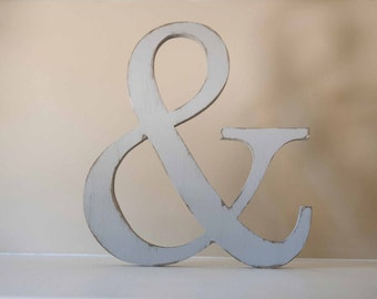 Ampersand Wood Letter, Photo Prop, And Sign