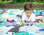 Memory Quilt / First Year Quilt / 1st Year Blanket / Baby Clothes Quilt / Custom Made /