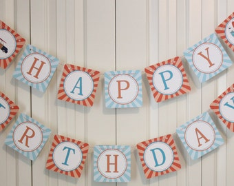 SURF'S UP Happy Birthday Party Banner - Party Packs Available