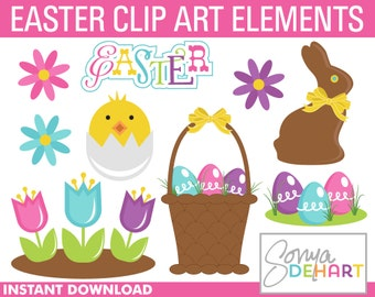 80% OFF Sale Easter Clipart, clip art, commercial use, vector, digital images -CA112