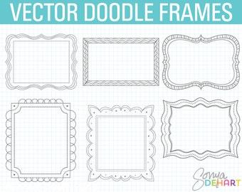 Doodle Frames, Frame Clipart, Doodle Clipart, Hand Drawn Clipart, Digital Frames, Frames Clip Art, Clipart, Clip Art