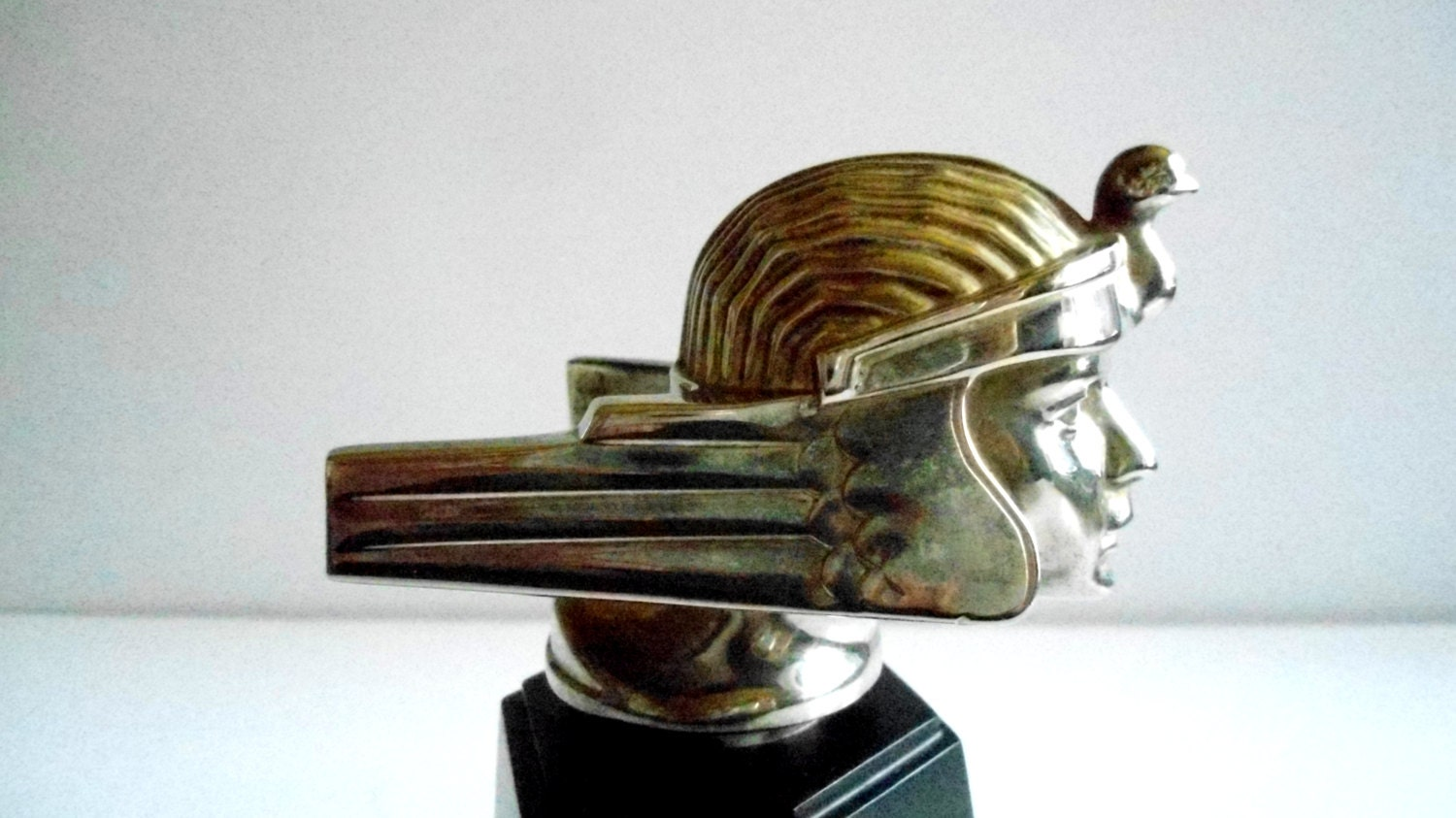 art deco hood ornament from a stutz bearcat automobile repo by. Black Bedroom Furniture Sets. Home Design Ideas