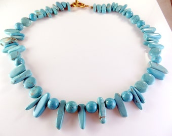 Clearance -Turquoise necklace, bracelet and earring set