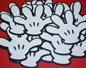 """Mickey Mouse Die Cut Gloves (25) 3 1/2"""""""