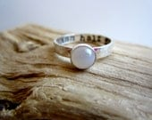 Personalized Moonstone Sterling Silver Ring