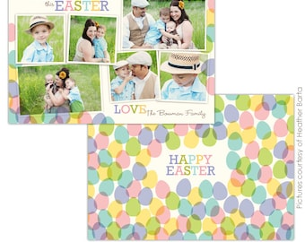 INSTANT DOWNLOAD - Easter Photocard - Template for photographers- E734