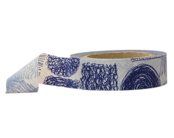Blue Washi Tape - Scribbles