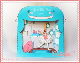 Coppelia Puppet Theater Printable PDF Kit - DIY Craft - Party Favor- Child Toy - Play & Pretend - Ballet - Education