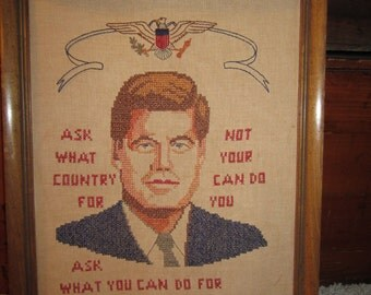 John F. Kennedy Cross Stitch