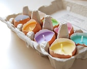 Easter Candles - Real Eggshells Candles Set Of 10 Vegetable Wax Candles Eco-friendly - LessCandles