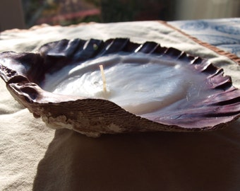Lavender Scented Purple Shell Candle