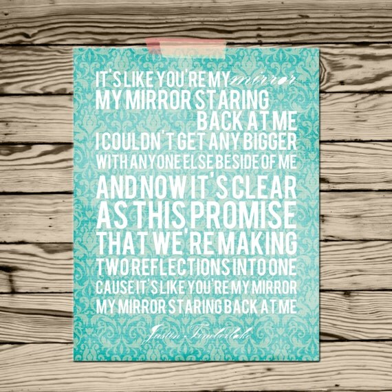 Justin timberlake mirror song lyrics by simplysweetdesigns13 for Mirror mirror lyrics