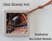 Sketch Pad - Mini Sketch Pad - Refillable Sketch Pad - Photography - Arcade Photo Printed On Metallic Photo Paper