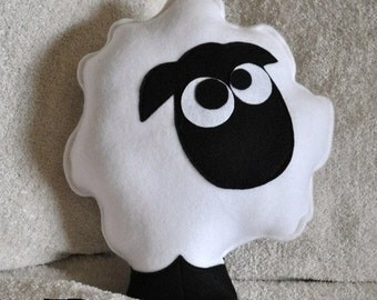White sheep pillow stuffed animal  DIY PDF Sheep Pillow Pattern