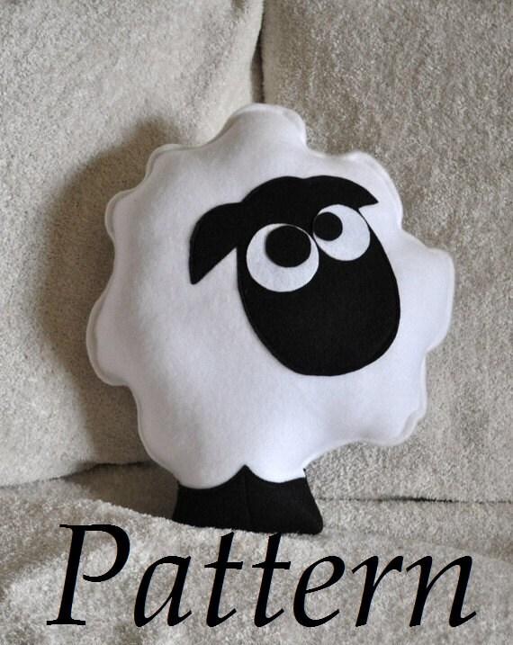 Cute Animal Pillows Diy : White sheep pillow stuffed animal DIY PDF Sheep Pillow