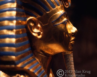 TUT'S DEATH MASQUE - A Fine Art Photograph You Will Never Be Able To Take of King Tut's Death Mask
