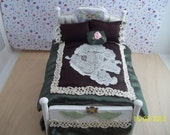 Dollhouse Miniature Dressed Bed Sale