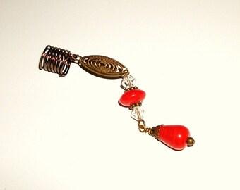 Dreadlock Jewelry - Antique Brass Marquise Loc Jewel