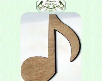 Music Note Wood Cut Out - Laser Cut
